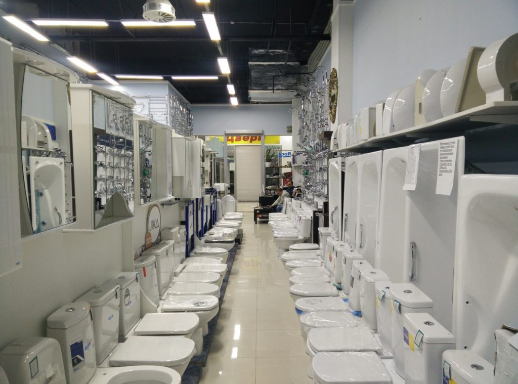 Открытие магазина сантехники требует значительных капитальных затрат