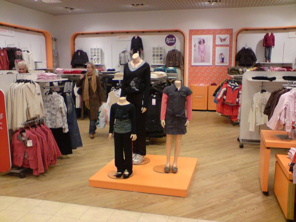 На ассортиментный ряд товаров влияет общая площадь магазина