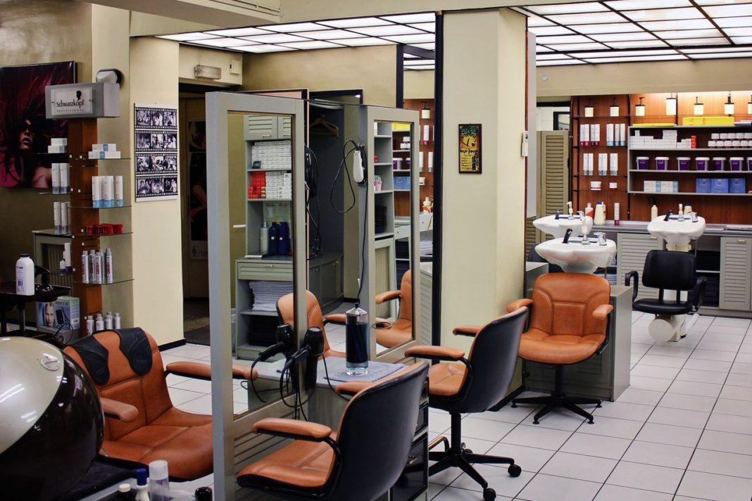 Интерьер парикмахерской: фото